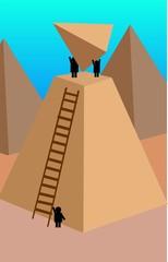 Illustration of pyramid construction graphs