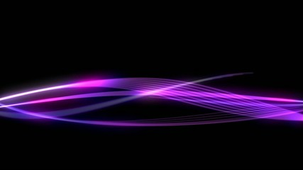 Abstract violet wave laser electro effect black background