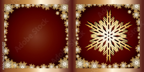 Gold Greetings card Snowflake