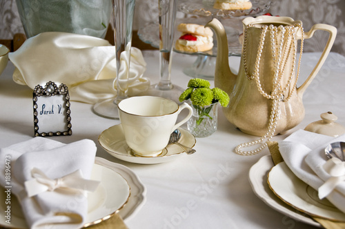 Poster high tea place setting