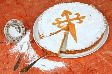 Tarta, Mandeltorte aus Santiago de Compostela, Dessert