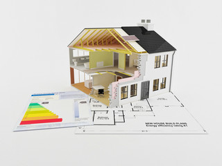 Energy saving certificate for new build home