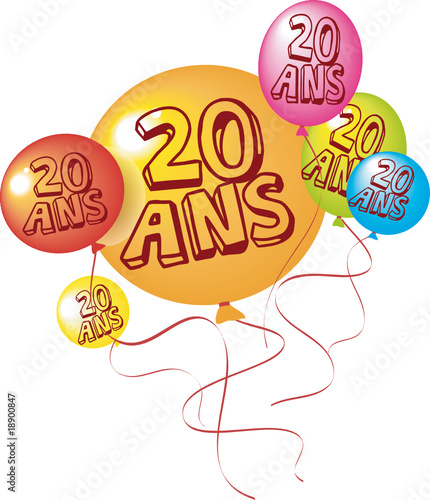 ballons anniversaire 20 ans pictures. Black Bedroom Furniture Sets. Home Design Ideas