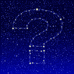 starry sky question mark