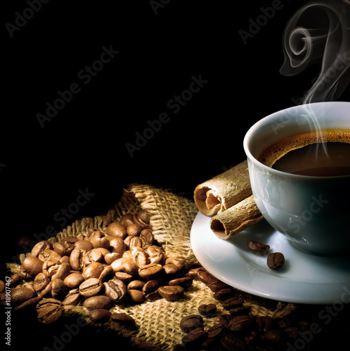 Coffee isolated on black - 18907467