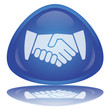 """Handshake"" Button (Contract - OK - YES - Agreement - Vector)"