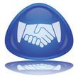 """Handshake"" Button (Contract - OK - YES - Agreement - Vector)"
