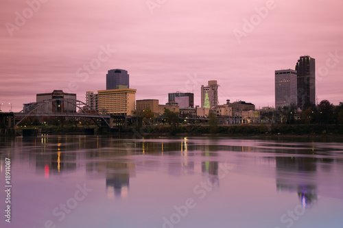 Sunrise in Little Rock, Arkansas