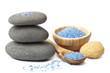 spa stones and herbal salt