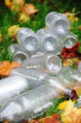 Flaschen - Müll - Umweltverschmutzung