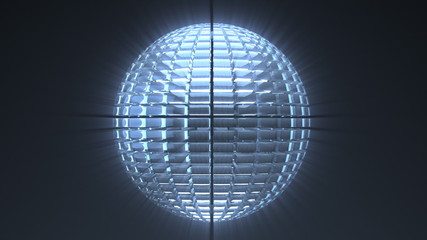 Glass sphere loop background