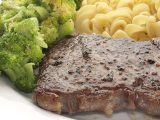 Steak mit broccoli