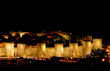 Avila at night, Castile and Leon, Spain