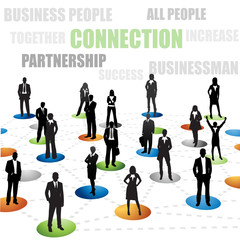 Conection of business people