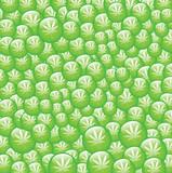Green bubbles of marijuana poster