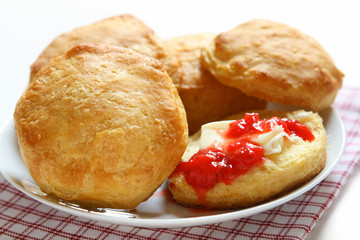 Biscuits and Strawberry Jam