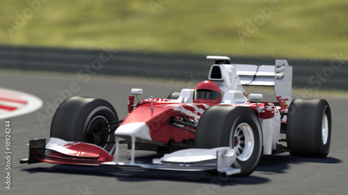 In de dag F1 formula one race car