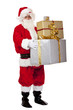 Santa Claus holding Christmas gift boxes - Weihnachtsgeschenk