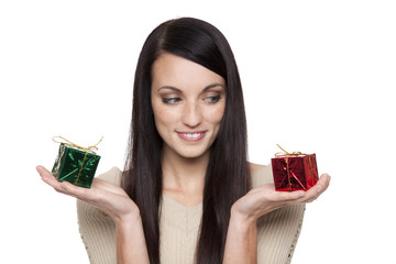christmas - woman with presents