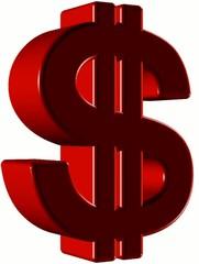 Rotating US Dollar symbol