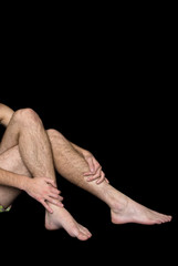 Male hairy legs and arms