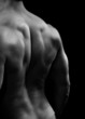 Muscular man with strong back muscles