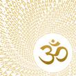 Goldenes AUM Zeichen OM Symbol mit Moolamantra