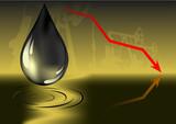 oil price decrease poster