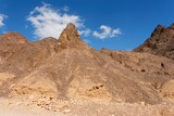 Scenic triangular rocks in stone desert near Eilat in Israel poster