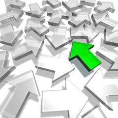 arrows chaos green