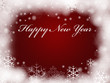 Happy New Year in red