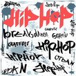 hip-hop graffiti vector urban background