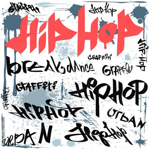 Leinwandbilder,graffiti,hip hop,grossstadtherbst,vektor