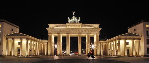Brandenburger Tor, Berlin, Panorama, Nachtaufnahme