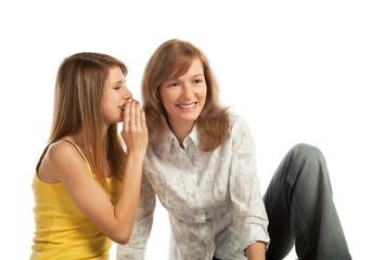 Whispering girls
