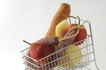 Alimenti nel carrello