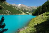 Vernagt-Stausee im Schnalstal, Südtirol.