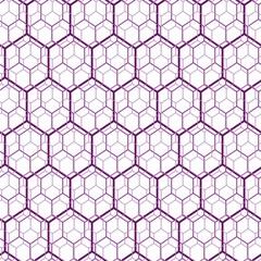 Seamless vector hexagon violet web pattern