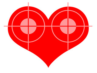 Two Targets At The Red Heart