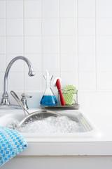 indoor setting, kitchen sink