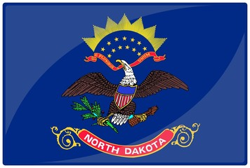 drapeau glassy dakota nord north dakota flag