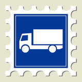 Truck - Transportation Sign Stamp