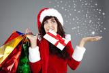 freude beim weihnachtseinkauf