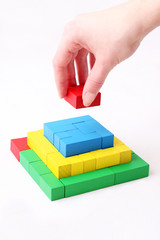 wooden toy blocks - pyramide