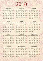 European pink calendar