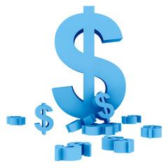 Dollar symbols isolated
