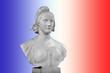 Buste de Marianne, fond bleu blanc rouge - 18956023
