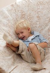 laughting boy