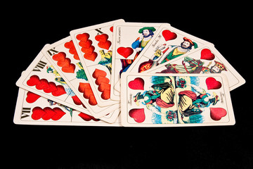 Hungarian cards in line