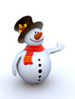 Funny snowman to use in New Year's designs